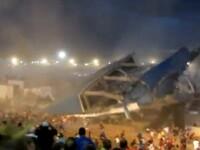 Imagini incredibile. Momentul in care o scena se prabuseste, chiar in timpul unui concert. VIDEO