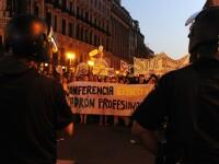 A doua noapte de proteste in Spania. Opozantii Papei,