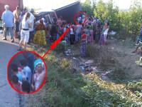 Jaf la drumul mare in Cotofenii din Fata. Zeci de tigani au furat dintr-un TIR, de fata cu politia