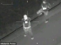 VIDEO. Momentul terifiant in care huliganii englezi incearca sa doboare un elicopter al politiei