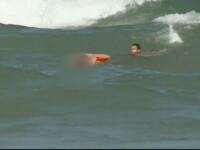 Turistul erou din Neptun. A riscat enorm, dar a salvat din valurile furioase 2 barbati. VIDEO