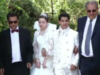 Nunta de 100.000 de euro. Pirandele au renuntat la tinuta traditionala pentru rochiile Chanel