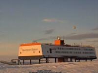 Obiect ciudat filmat deasupra unei statii de cercetare din Antarctica.