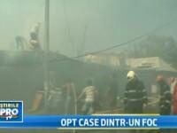 VIDEO. Scene dramatice in Bucuresti, unde un incendiu a distrus 8 case. Pompierii au ramas fara apa