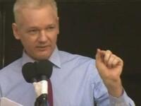 Assange, de la balconul ambasadei Ecuadorului din Londra,catre SUA:Incetati vanatoarea de vrajitoare