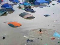 Unul dintre cele mai mari festivaluri de muzica din Marea Britanie s-a incheiat sub ape