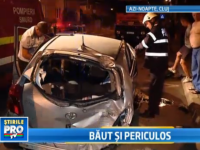 Baut si periculos. Un tanar din Cluj s-a urcat beat la volan si a facut praf doua masini