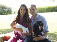 Primul portret oficial cu copilul regal. Fotografia, realizata de tatal lui Kate, Michael Middleton