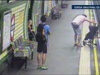 Scene de infarct la metroul din Londra. O femeie si-a salvat copilul in ultima secunda din fata trenului