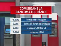 Proiect ANPC: Bancile vor afisa pe ecranele bancomatelor comisioanele. Cati bani pierd romanii fara sa-si dea seama