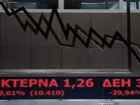 Martea neagra. Actiunile Piraeus Bank, NBG, Alpha Bank si Eurobank, declin de 30%, nivelul maxim permis pe Bursa de la Atena