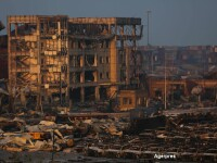 Noi explozii in China: autoritatile au efectuat evacuari pe o raza de 3 kilometri. Bilantul tragediei a ajuns la 104 morti