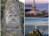 Statuia lui Decebal de pe Dunare, in top 5 din lume, alaturi de Statuia Libertatii. Care este povestea sculpturii