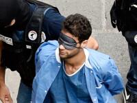 Politia franceza l-a adus la tribunal descult, legat la ochi si in pijamalele de spital pe marocanul acuzat de terorism