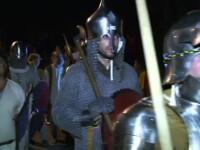 Festival medieval la Sibiu. Strazile orasului au fost invadate de cavaleri in armura si printese