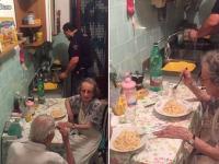 Politistii au fost chemati acasa la un cuplu in varsta din Roma. Ce gest neasteptat au facut agentii