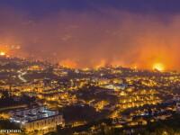 Incendiile violente din Madeira au facut 3 victime, iar focul s-a extins pana in capitala. Peste 1000 de persoane, evacuate