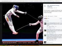 """""""Rromania"""" pe pagina de Facebook a Federatiei Internationale de Scrima sub pozele de la finala. Reactiile romanilor"""