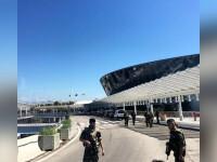 Clipe de panica pe aeroportul din Nisa, luni dimineata, dupa o alerta privind un bagaj suspect. Pasagerii au fost evacuati