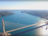 Turcii au inaugurat al treilea pod peste Bosfor, care leaga Europa de Asia. Cum arata gigantul de beton care bate recorduri
