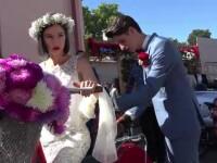 Tinerii designeri din Targu Mures care au vrut sa aiba parte de o nunta speciala. Cum au ajuns la ceremonie