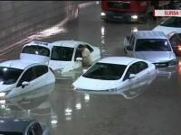 Inundatii in capitala Turciei. Mai multe masini au ramas blocate intr-un pasaj din Ankara, dupa o ploaie puternica