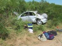 Vacanta se putea termina tragic pentru o familie din Braila, implicata intr-un accident rutier. Medic: