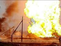 Incendiu la un puț de petrol din Rusia: 8 muncitori grav răniți