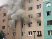 Aproximativ 50 de locatari evacuați dintr-un bloc din Sibiu, în urma unui incendiu