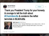 Fostul lider Ku Klux Klan salută declarația lui Trump după violențele din Charlottesville