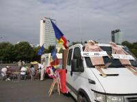 Primii protestatari au ajuns în Piața Victoriei, cu 24 de ore înaintea manifestației diasporei