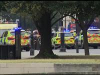 Momentul în care șoferul intră cu mașina în bariera Parlamentului britanic. VIDEO