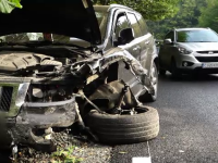 Accident grav la Cluj-Napoca. O familie cu doi copii de 3 luni, la un pas de moarte