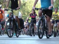 Timişorenii au mers pe biciclete alături de pompieri. Scopul evenimentului