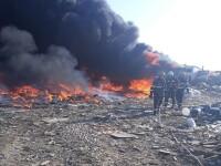 Incendiu la un depozit din Bihor. Localnicii, avertizați prin sistemul RO-Alert
