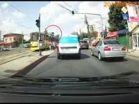 Învechitele tramvaie din București, pericole mortale. Incidentul șocant surprins