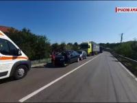 Carambol pe un drum din Dâmbovița. Greșeala făcută de un șofer de TIR