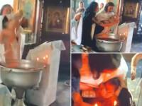 Preot acuzat că aproape a înecat un bebeluș în timpul botezului. Reacția mamei. VIDEO