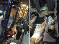 Imagini revoltătoare filmate într-un tren spre mare. Ce făceau mai mulți elevi
