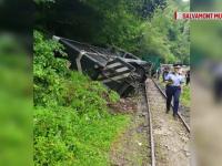 Al doilea incident cu Mocănița. Un vagon al trenului turistic a deraiat. FOTO