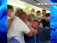 VIDEO. Bătaie la bordul unui avion, după ce doi englezi au refuzat să poarte mască