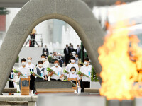 75 de ani de la atacul nuclear de la Hiroshima. Ceremonii de comemorare a victimelor