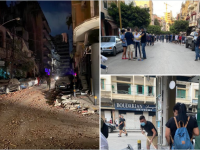 Cât de repede au curăţat locuitorii din Beirut o stradă devastată de explozie