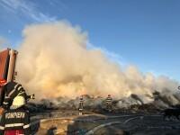 Incendiu la fosta groapă de gunoi din Chitila. A fost emis mesaj RO-ALERT