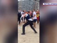 De la soare la răcoare! Scandal între 40 de indivizi și forțele de ordine, pe o plajă din Belgia