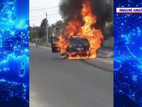 Drama unui șofer din Olt. Mașina i s-a făcut scrum la scurt timp după ce a cumpărat-o