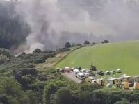 Incident major în Scoția. Un tren plin cu pasageri a deraiat și a luat foc