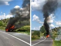 Un bărbat din Cluj care a dat foc vegetației a reușit să își incendieze propria mașină