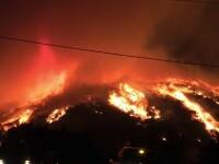 Mii de hectare de vegetație ard necontrolat în California. Pompierii au scăpat situația de sub control