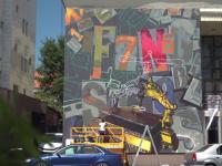 Festivalul Internațional de Artă Stradală – Sibiu. Artiștii dau viață unor ziduri gri